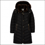 Joules Cherington Quilted Longline Coat True Black 1