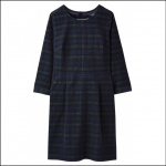 Joules Cordelia Navy Check Pincord Dress 1