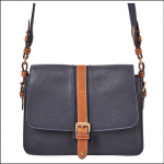 Joules Wimborne Leather Carriage Bag French Navy 1