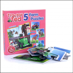 Tractor Ted Five Farm Puzzle Set 1