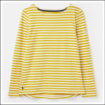 Joules Harbour Long Sleeve Jersey Top Gold Stripe 1