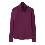 Joules Rachelle Burgundy Roll Neck Jersey Top