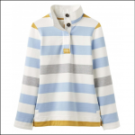 Joules Saunton High Neck Sweatshirt Blue-Gold 1
