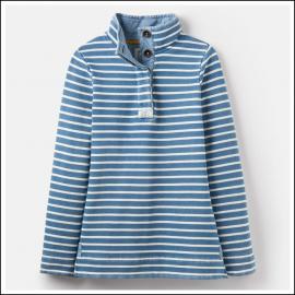 Joules Saunton Saltwash Classic Sweatshirt Blue-Cream Stripe 1
