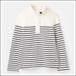 Joules Saunton Sweatshirt Cream-Navy Stripe 1