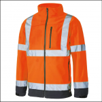 Dickies High Visibility Softshell Jacket Orange 1