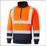 Dickies High Visibility Two Tone Sweatshirt Orange 1