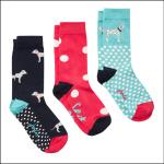Joules Brilliant Bamboo Ladies Socks (3pk) Red Dalmatian 1
