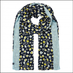 Joules Conway Scarf Navy Leopard Print 1