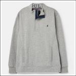 Joules Deckside Half Zip Sweatshirt Grey Marl 1