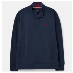 Joules Deckside Half Zip Sweatshirt Navy