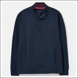 Joules Deckside Half Zip Sweatshirt Navy 1