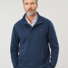 Joules Deckside Half Zip Sweatshirt Navy 3