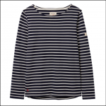 Joules Harbour Long Sleeve Jersey Top Navy-Cream Stripe 1