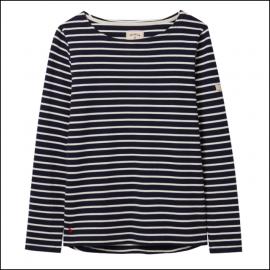 Joules Harbour Long Sleeve Jersey Top Navy-Cream Stripe 1