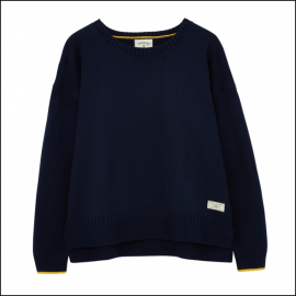 Joules Luciana Boxy Knit Jumper French Navy 1