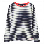 Joules Selma Long Sleeve Stripe Jersey Top Navy-Cream 1