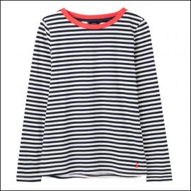 Joules Selma Long Sleeve Stripe Jersey Top Navy-Cream 1