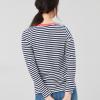 Joules Selma Long Sleeve Stripe Jersey Top Navy-Cream 2