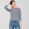Joules Selma Long Sleeve Stripe Jersey Top Navy-Cream 3