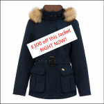 Alan Paine Ladies Berwick Jacket Navy Right Now Offer