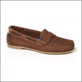 Dubarry Belize Ladies Slip On Deck Shoe Cafe 1