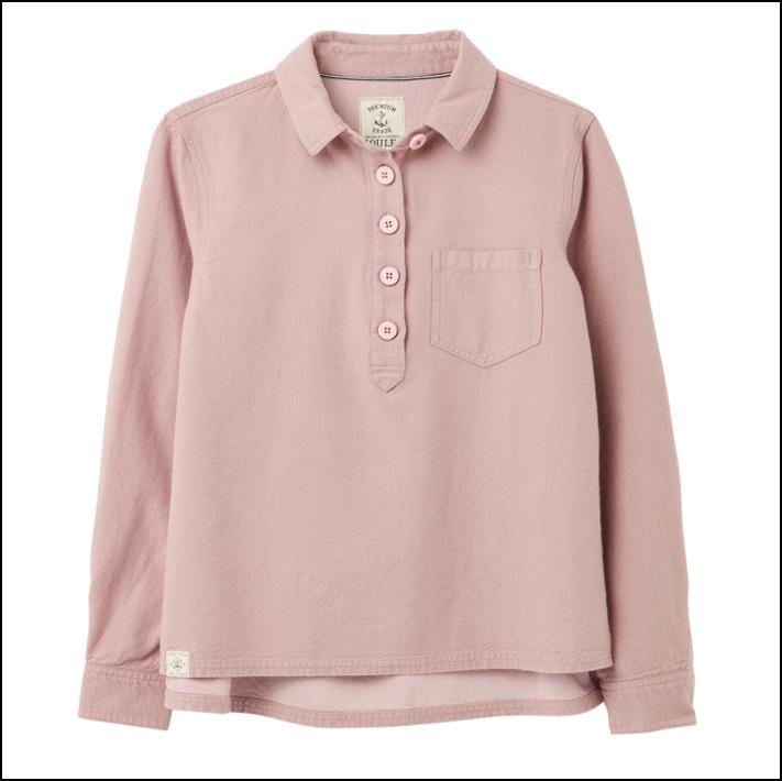 Joules Ashbrook Pop Over Deck Shirt Light Pink 1