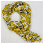 Joules Conway Scarf Gold Dalmatian Print 1