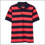 Joules Filbert Short Sleeve Polo Shirt Pink-Navy Stripe 1