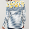 Joules Harbour Print Long Sleeve Jersey Top Cream-Blue Floral 3