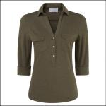 Schoffel Ladies Marina Jersey Shirt Olive 1