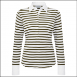 Schoffel Ladies Salcombe Shirt Harbour Stripe Olive 1