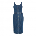 Barbour Darcie Denim Pinafore Dress Mid Wash Blue 1