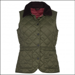 Barbour Deveron Ladies Gilet Olive-Tayberry 1