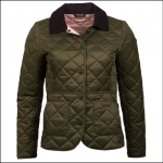 Barbour Deveron Ladies Quilt Jacket Olive-Tayberry 1