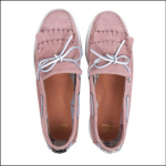 Barbour Klara Ladies Boat Shoes Pink Suede 1