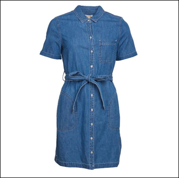 Barbour Seaboard Denim Dress Mid Wash 1