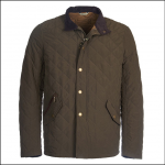 Barbour Shoveler Quilted Jacket Dark Olive 1