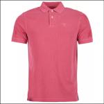 Barbour Washed Sports Polo Shirt Fushia 1