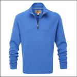 Schoffel Cotton French Rib Qtr Zip Jumper Cornflower Blue