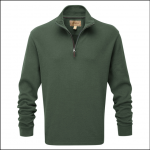 Schoffel Cotton French Rib Qtr Zip Jumper Sage 1