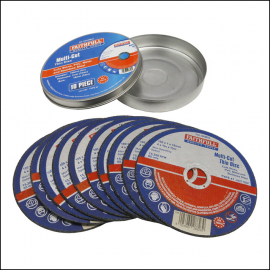 Faithfull Multi-Cut Thin Discs 115 x 1.0 x 22mm Pk of 10 1