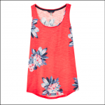 Joules Bo Print Jersey Vest Floral Red 1