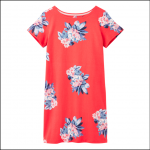 Joules Riviera Print Short Sleeve Dress Floral Red 1