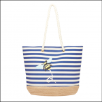 Joules Tenby Canvas Espadrille Bag Navy-Bee-Stripe 1