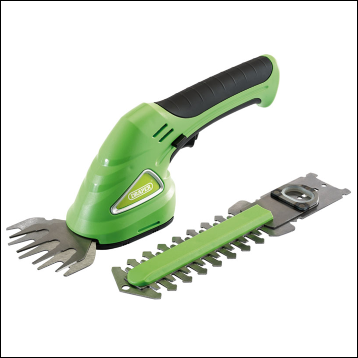 Draper 52316 Cordless Grass and Hedge Shear Kit (7.2V) 1