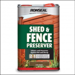 Ronseal Shed and Fence Preserver 5 Litre
