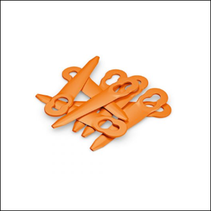 Cutters for Stihl PolyCut 2-2 Lawnmower Replace Easy Install Orange Universal