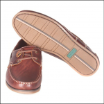 Barbour Capstan Boat Shoe Mahogany Leather 1