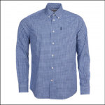 Barbour Gingham 19 Tailored Shirt Inky Blue 1